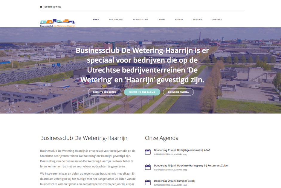 Website Businessclub De Wetering Haarrijn